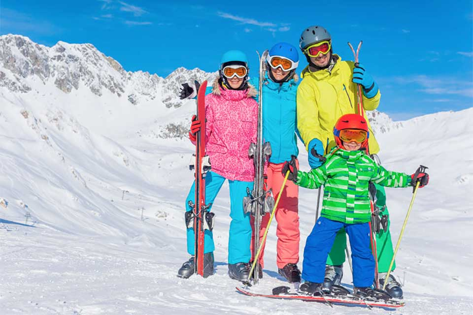family ski holidays by private jet