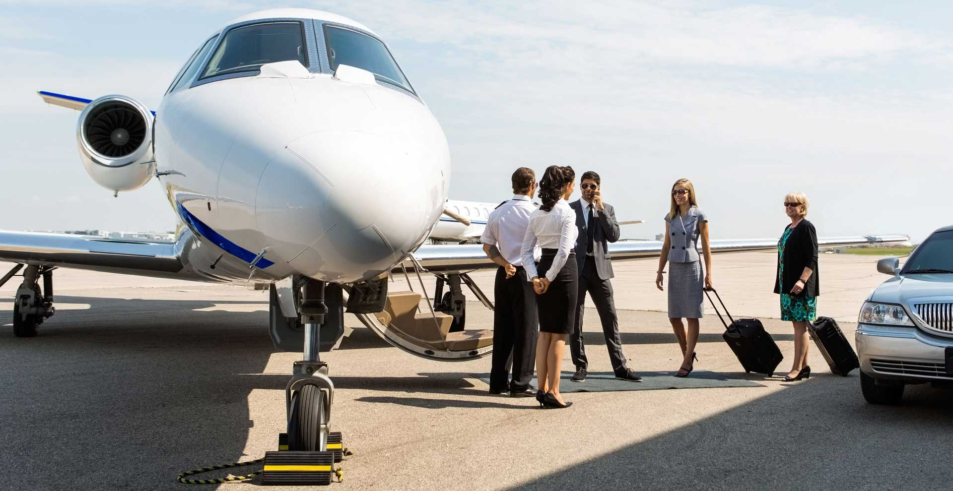 private jet charter for business with Falcona Private Jets