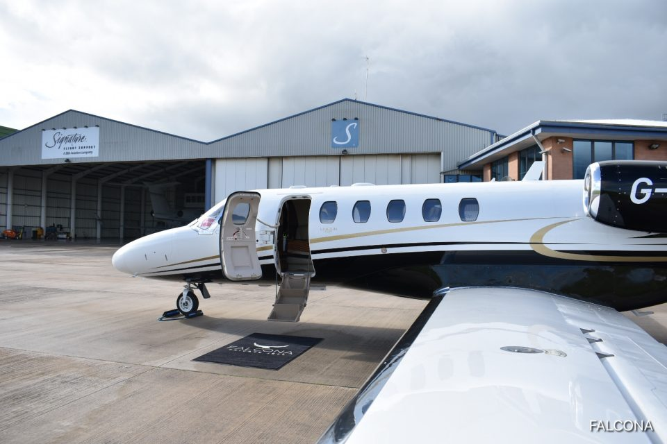 citation cj2 private jet manchester airport