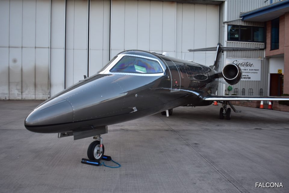 manchester airport private jet terminal learjet 75 private jet