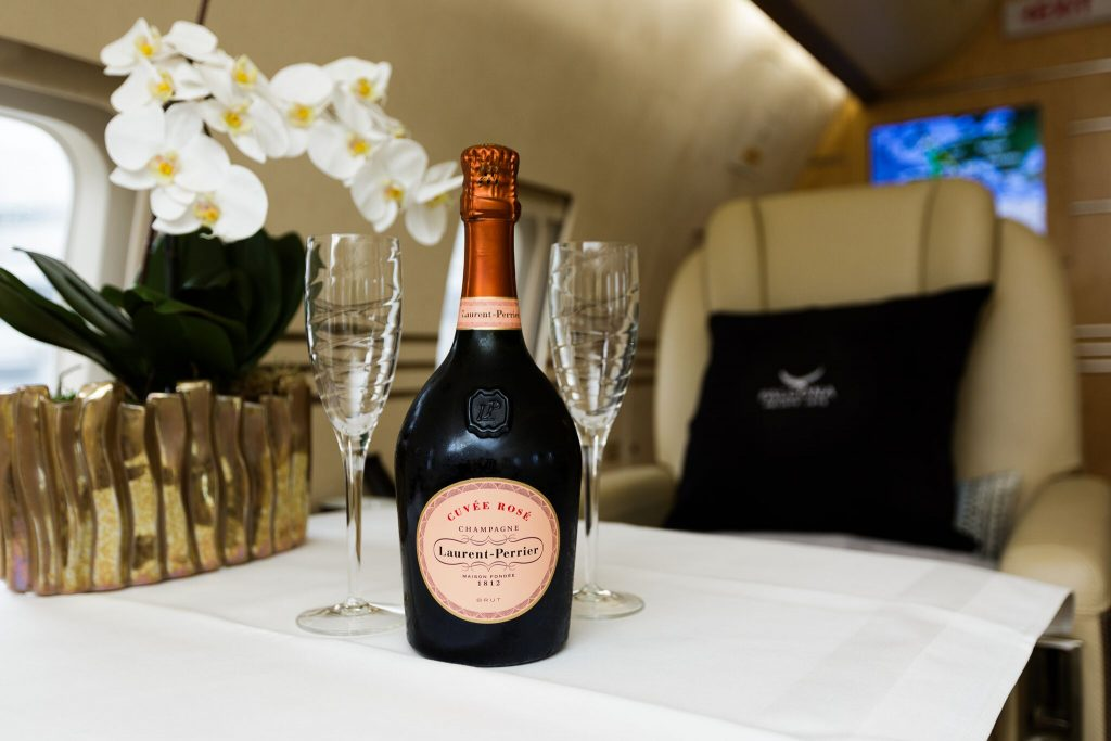 LAURENT PERRIER CHAMPAGNE PRIVATE PLANE