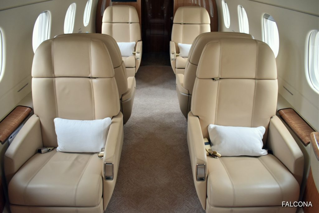Embraer Legacy 500 leather seats