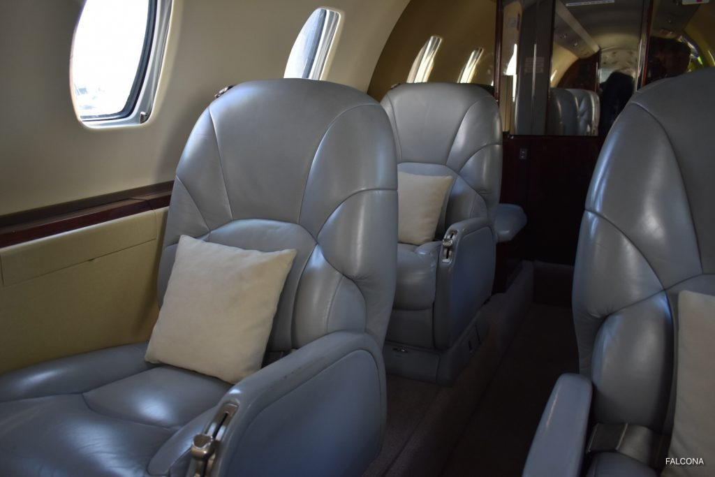 CITATION XL PRIVATE JET INTERIOR