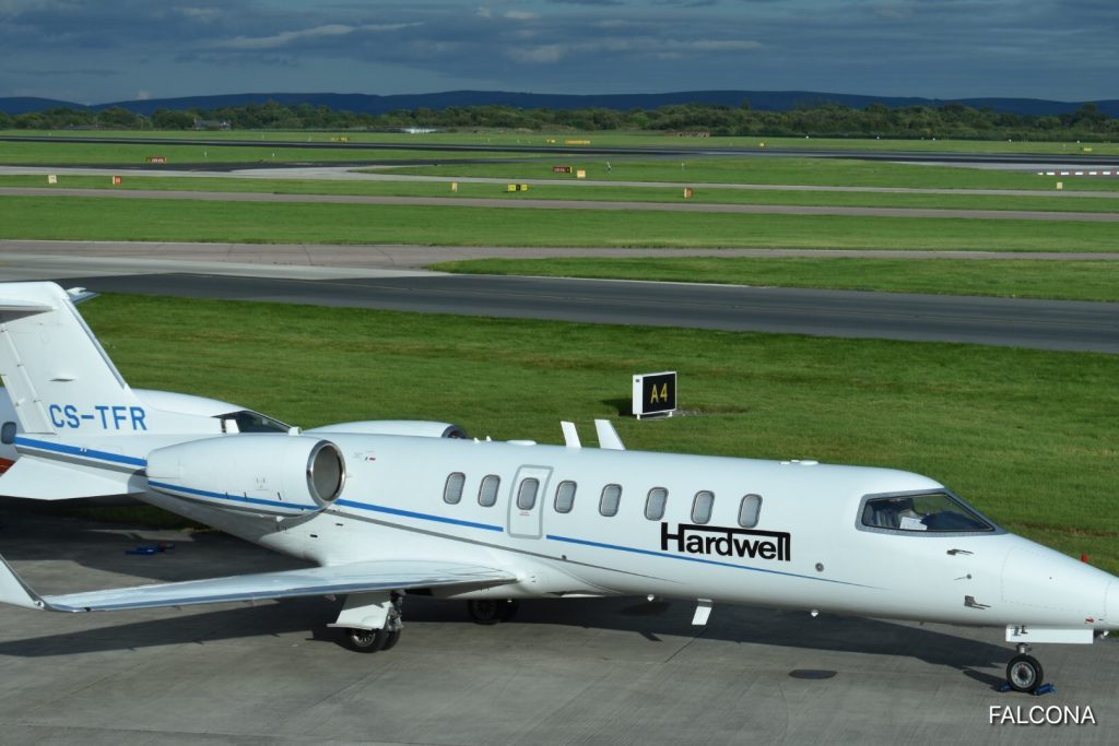 Bombardier Learjet 45 Hardwell at manchester airport