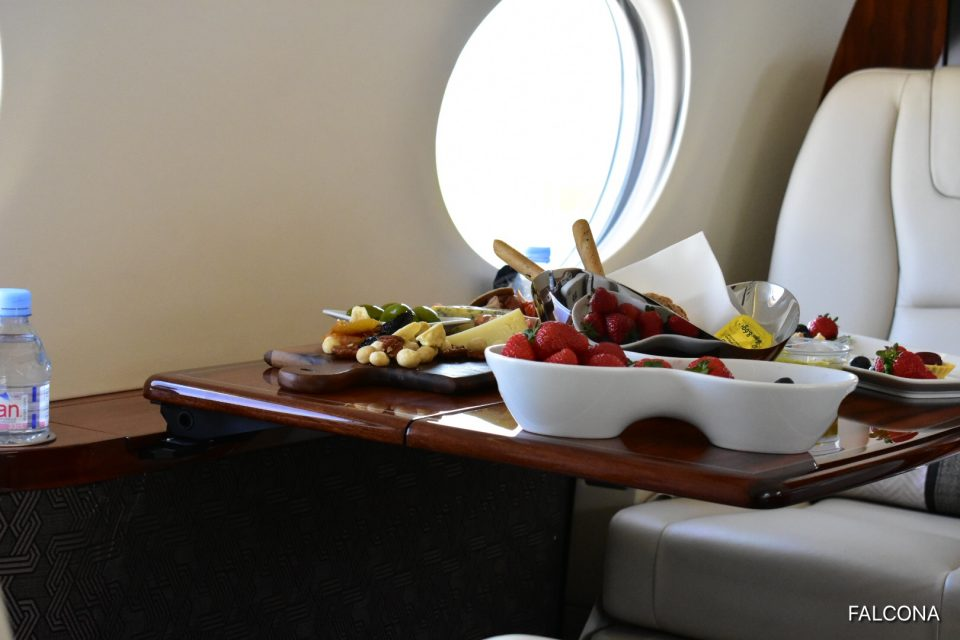 GULFSTREAM G450 PRIVATE JET CATERING FRUIT AND NUTS