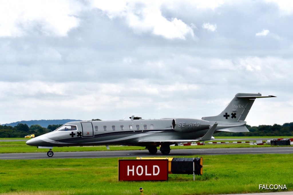 Bombardier Learjet 45 at manchester airport