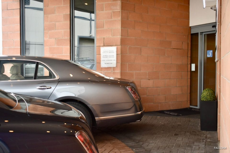 Bentley cars at private jet terminal manchester airport