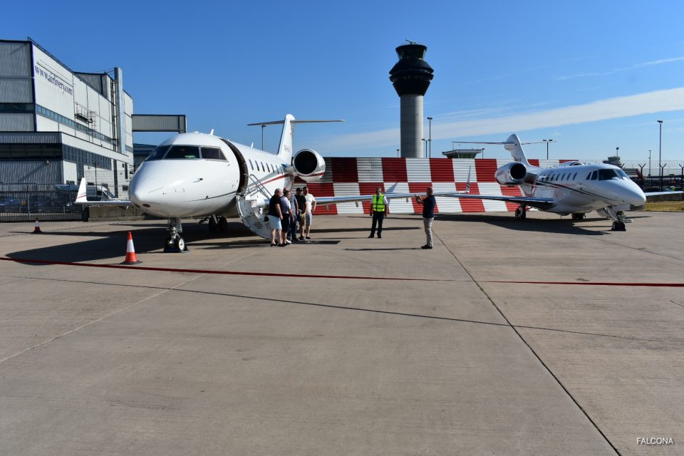 Manchester Airport private jets challenger 605 and citation x