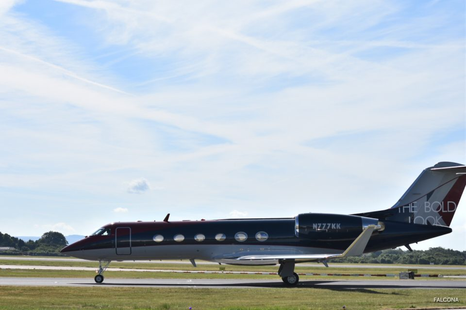 GULFSTREAM GIV-SP private jet at manchester airport