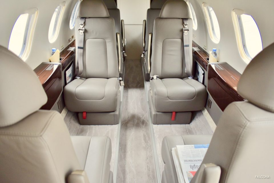 Embraer Phenom 300 cabin interior