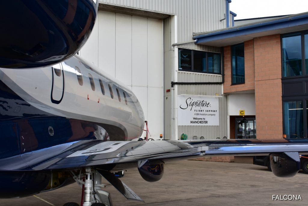 legacy 500 private jet at signature private jet terminal manchester