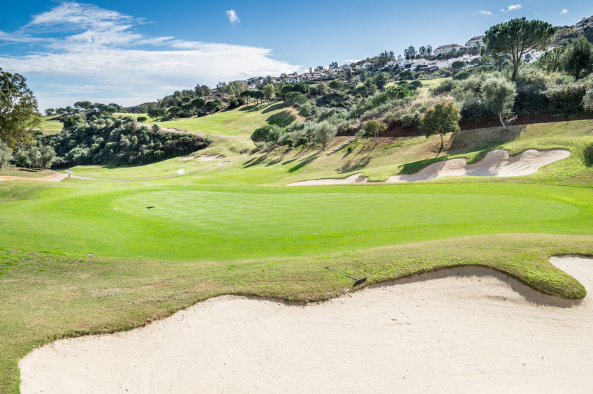 golf course in Mijas, Malaga, Spain