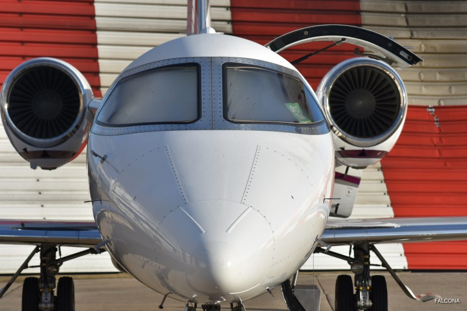Bombardier Learjet 75 at Manchester Airport