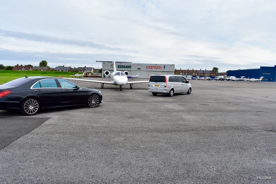 Liverpool airport private jet and chauffeur