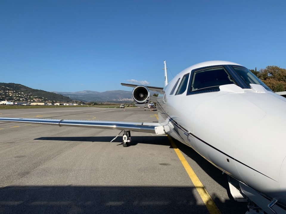 Citation XLS+ at Cannes Airport