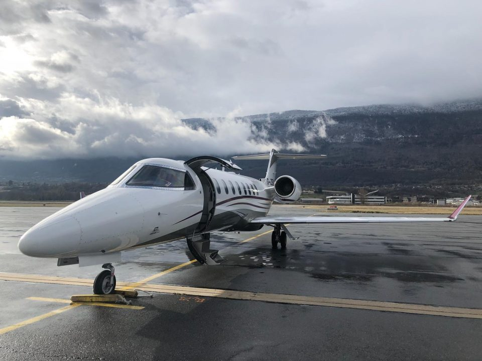 learjet 75 at chambery airport