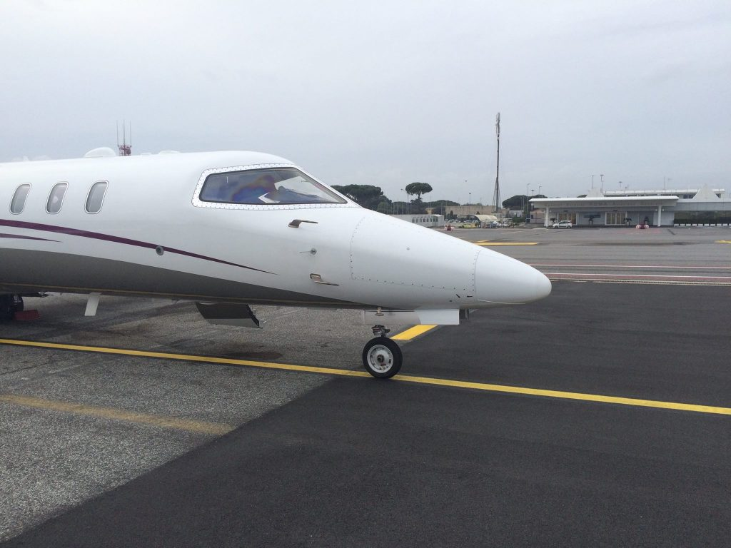 learjet 75 rome airport airport