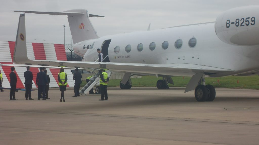 Gulfstream G550 at manchester airport