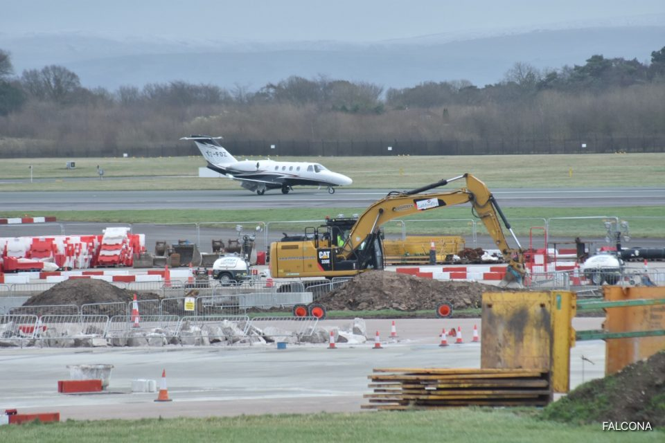 Cessna Citation M2 at manchester airport