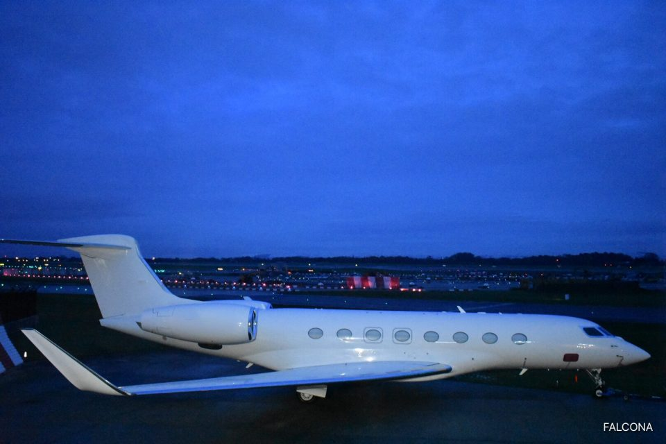 Gulfstream G650 at Manchester Airport
