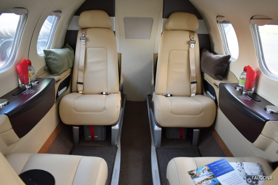 Embraer Phenom 100 cabin interior