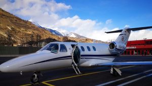 Cessna CJ at Sion Airport