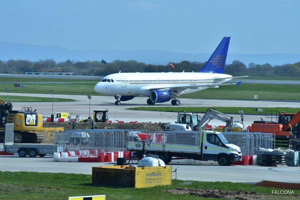 Champions League Manchester Airport AIRBUS ACJ318