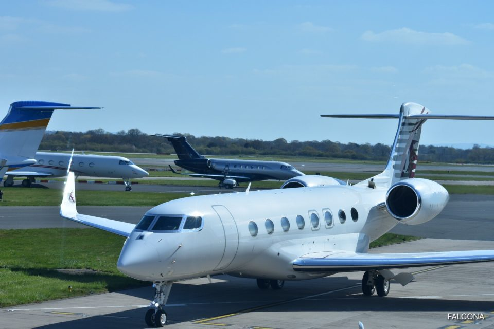 Gulfstream G650ER AT MANCHESTER AIRPORT