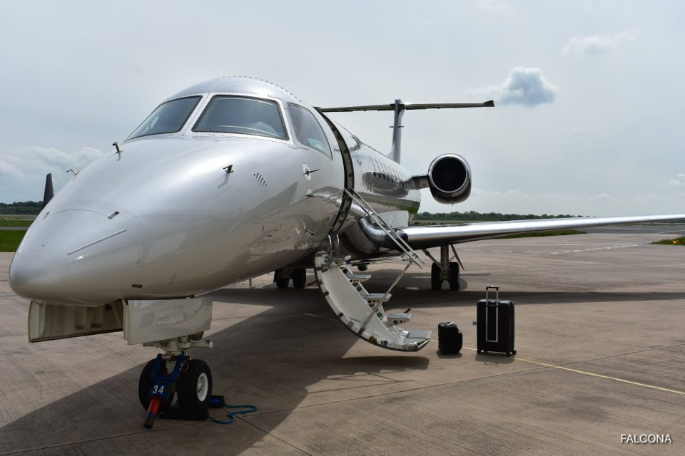 Embraer Legacy 650 at manchester airport