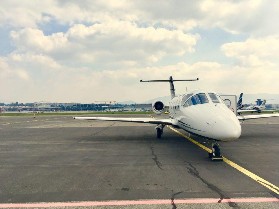 Nextant 400XTI private jet at Geneva Airport