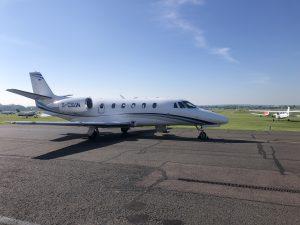 Cessna Citation XLS at Cambridge Airport
