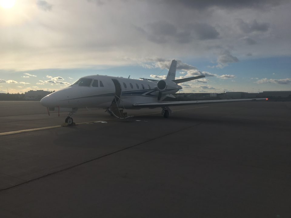 Citation XLS+ at Stockholm Arlanda Airport
