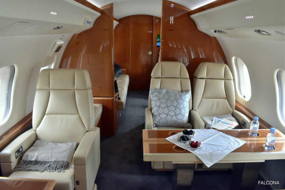 Bombardier Global 6000 leather seats interior