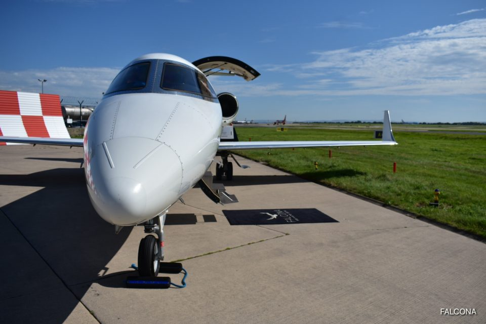 Bombardier Learjet 40 at manchester airport