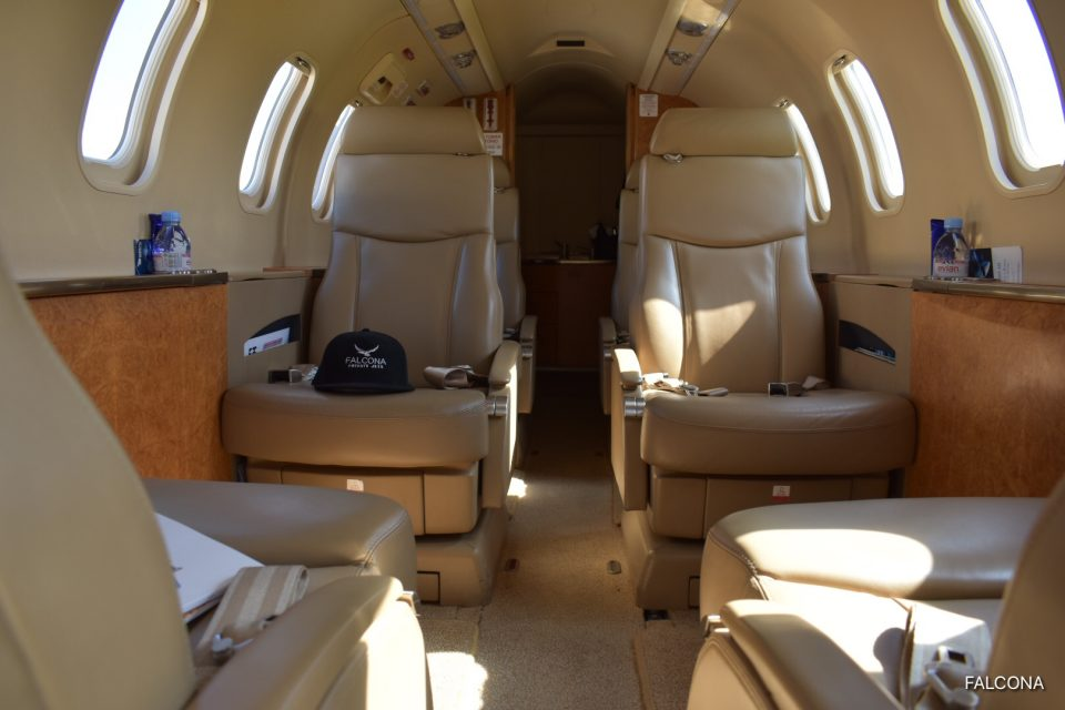 Bombardier Learjet 40 interior