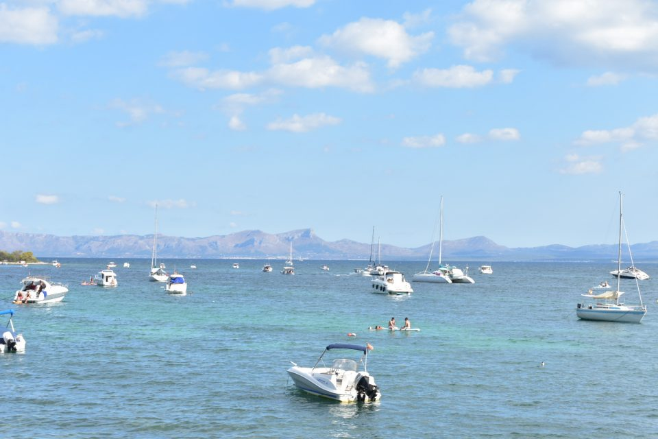 Boats moored in Alcudia, Mallorca