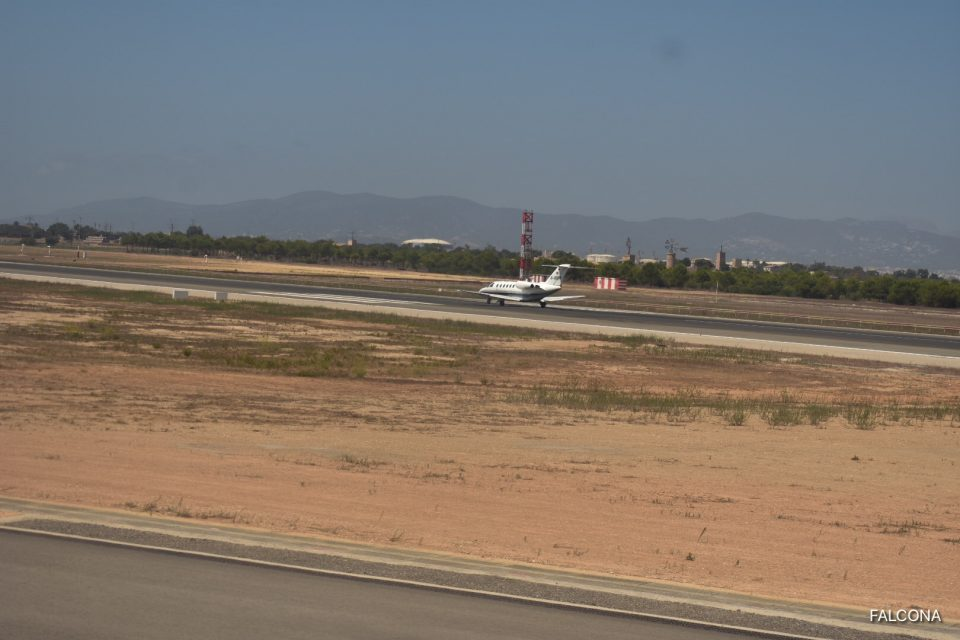 CJ2 taking off at Mallorca Airport