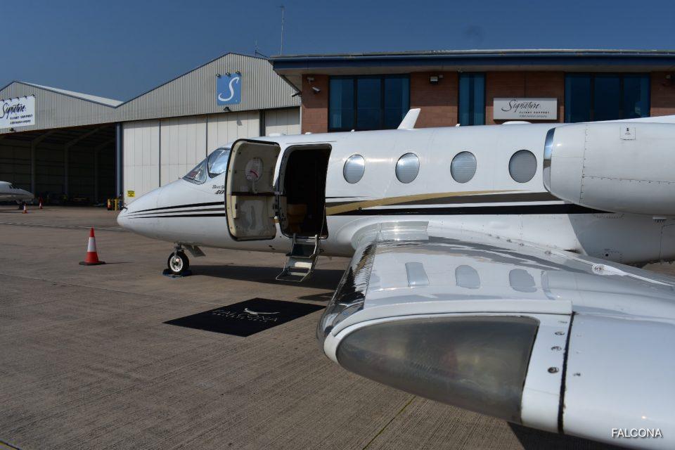 beechjet 400a private jet manchester