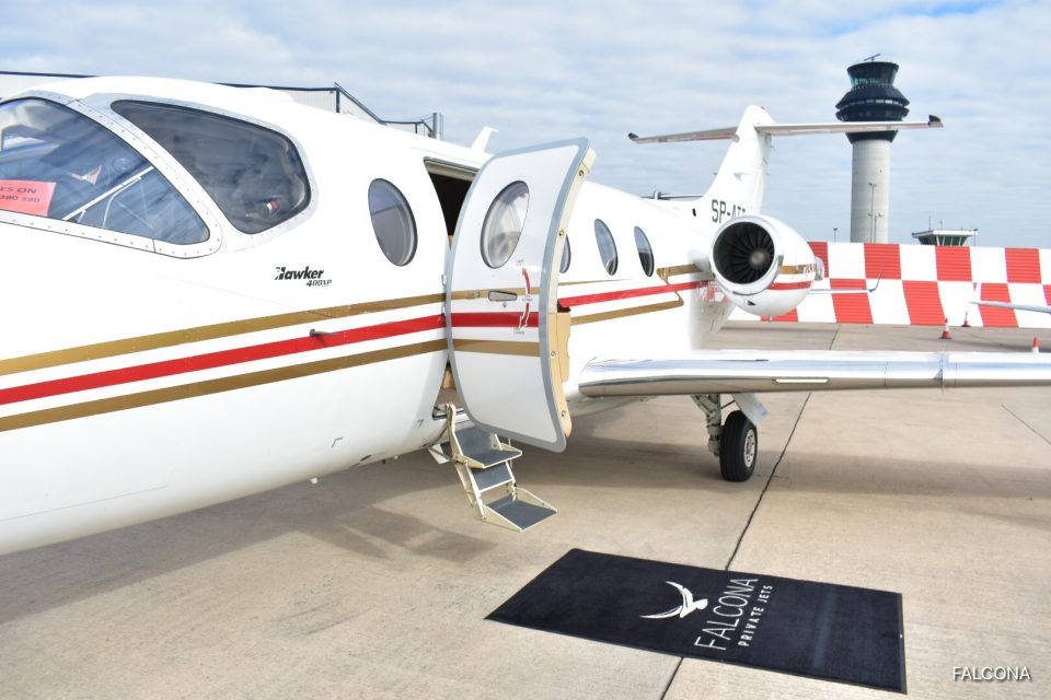 Hawker 400XP EXTERIOR AT MANCHESTER AIRPORT