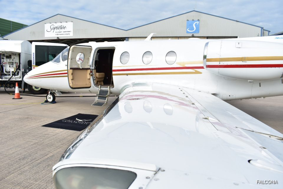 Hawker 400XP at Manchester Airport