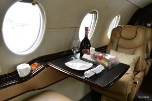 Hawker 400XP cabin