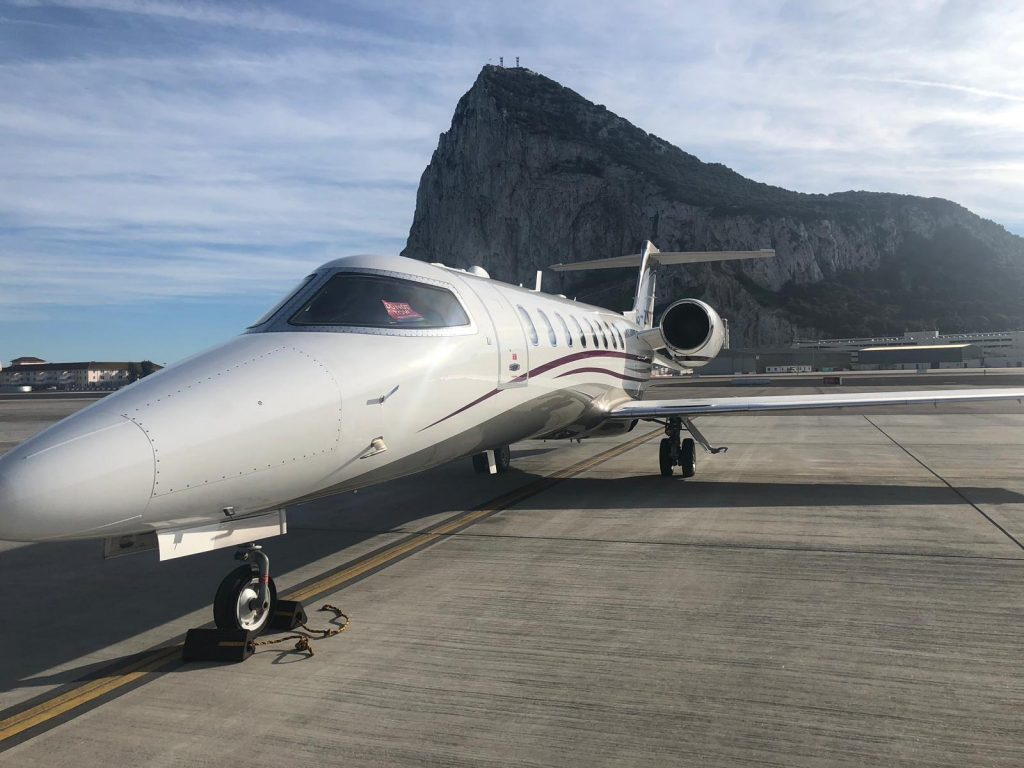 Bombardier Learjet 75 at Gibraltar Airport