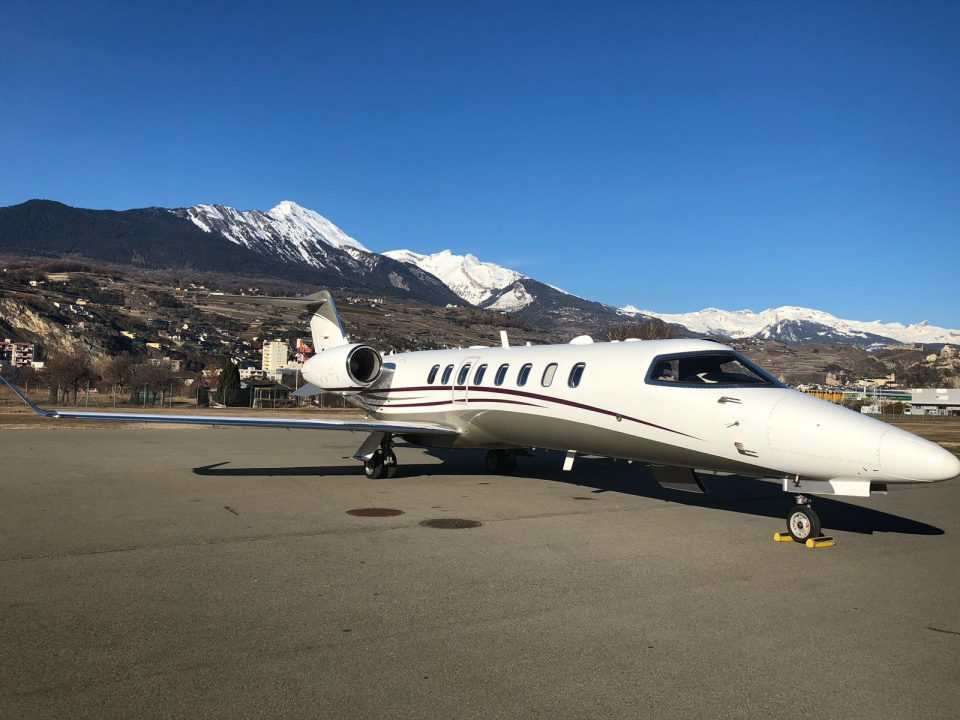 Bombardier Learjet 75 at Innsbruck Airport