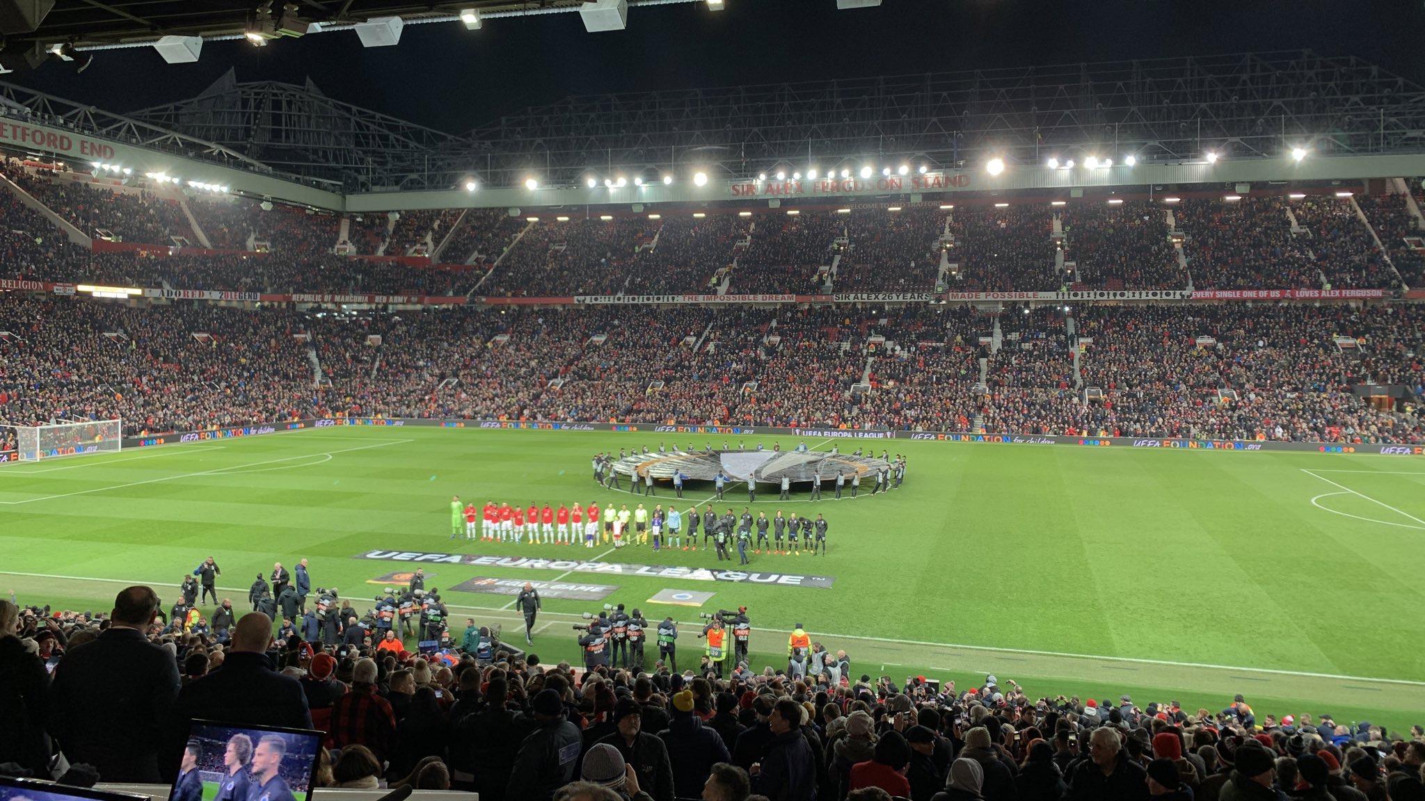 Old Trafford stadium, Manchester United, Europa League