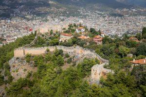 Alanya Castle in Alanya, Antalya City, Turkey