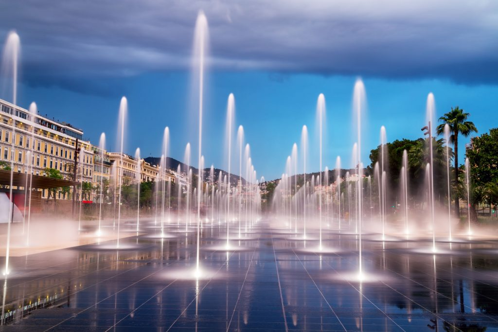 The Beautiful fountain in the city centre of Nice