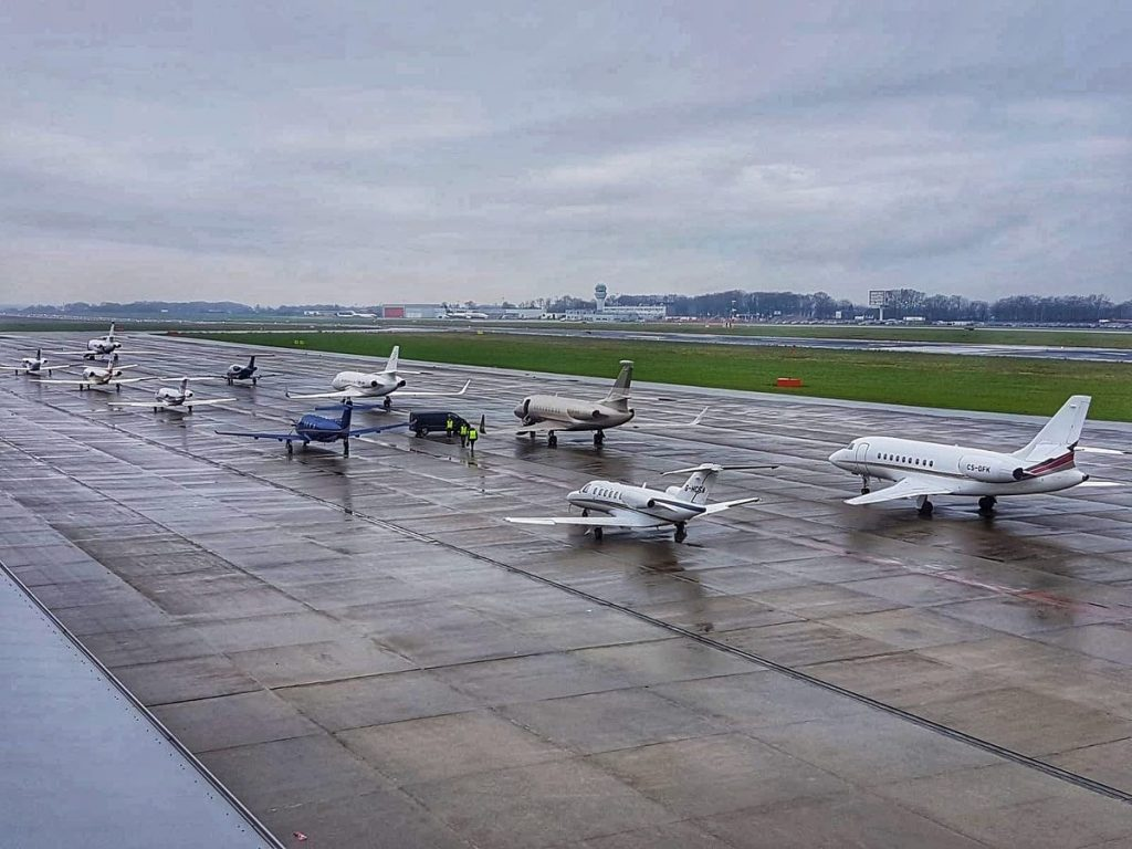 Maastricht-Beek Airport private jets