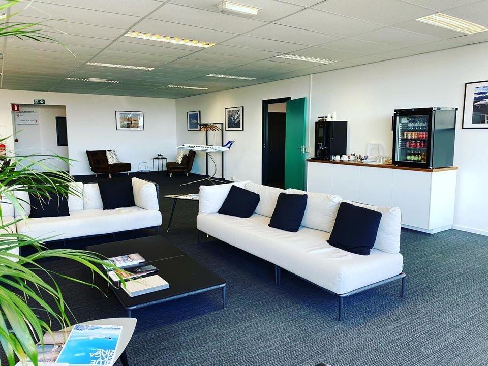 Maastricht-Beek Airport terminal lounge
