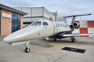 Embraer Phenom 300 at manchester airport