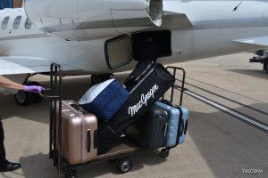 Luggage being loaded onto Bombardier Learjet 45XR
